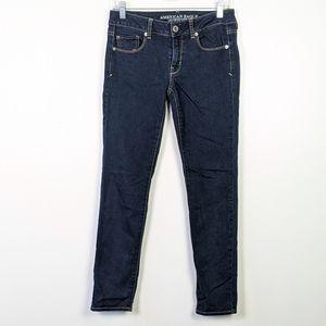 AEO Dark Wash Skinny Jeans Size 2
